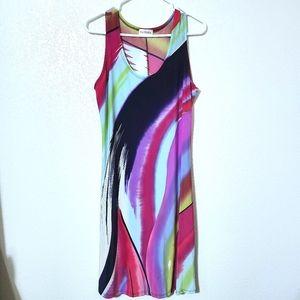 Fantasia multicolor sleeveless maxi dress